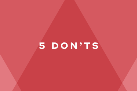 1-Dont's