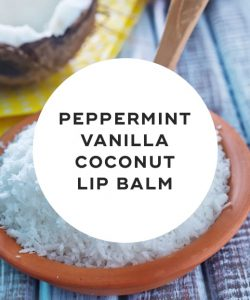 Peppermint Vanilla Coconut Lip Balm