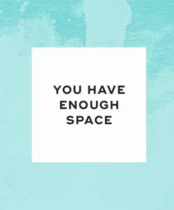 You have enough space