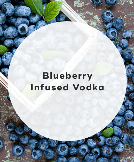 1. Blueberry infused vodka
