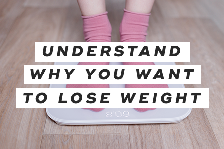 1. Understand why you want to lose weight