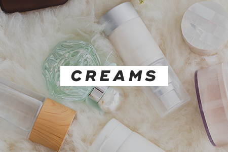 1. Use creams instead of lotions