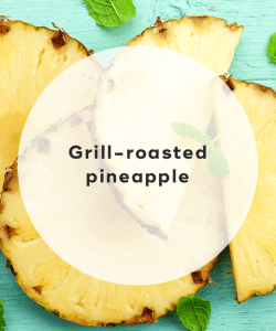 Grill-roasted pineapple