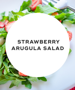 strawberry and arugula salad