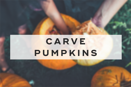 10. Carve pumpkins
