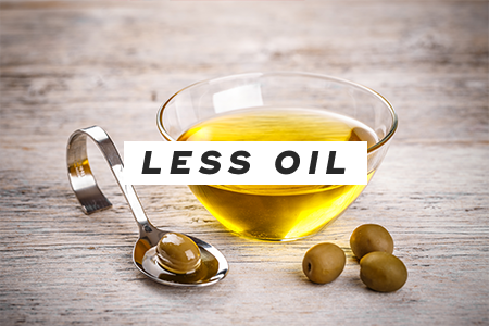 2. Cook with less oil