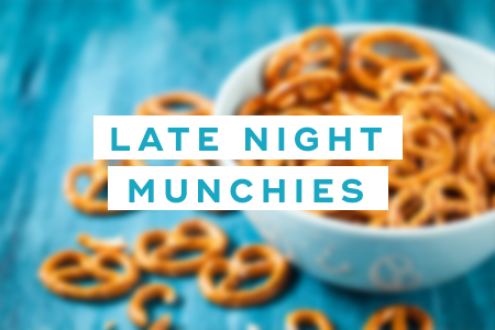 2. Don't give into late night munchies