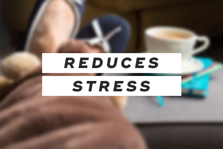 2. It reduces stress