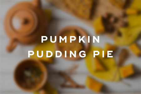 2. Pumpkin pudding pie