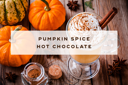 2. Pumpkin spice hot chocolate