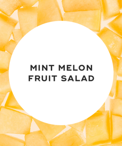 Mint melon fruit salad