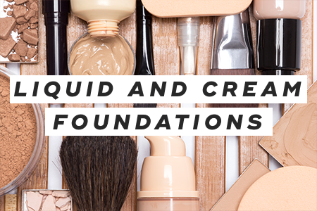 4. Apply liquid and cream foundations