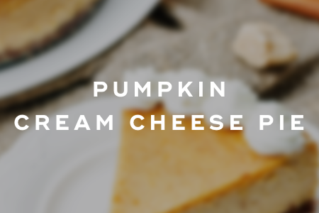 4. Pumpkin cream cheese pie