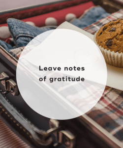 Leave notes of gratitude