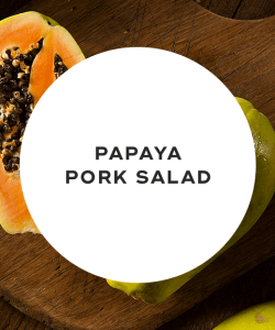 Papaya pork salad