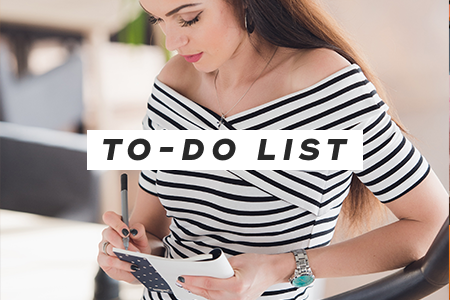 6. Go through your to-do list
