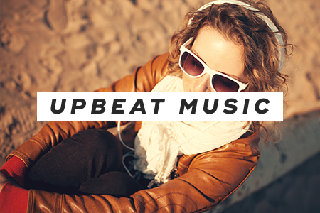 6. Listen to upbeat music