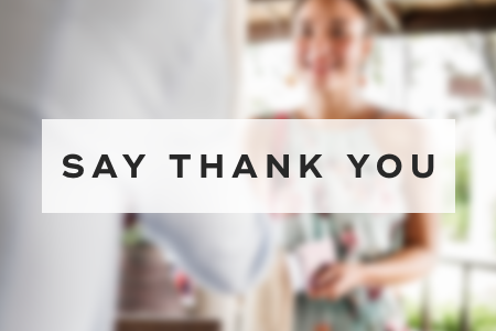 6. Say thank you