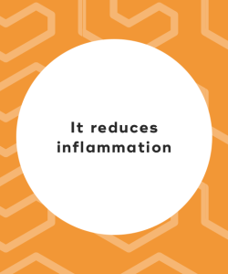 It reduces inflammation