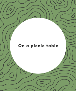 On a picnic table