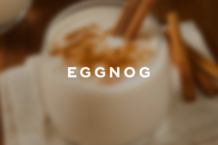 8. Eggnog hot chocolate