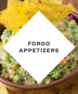Forgo appetizers