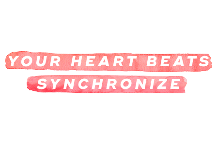 9. Your heart beats synchronize