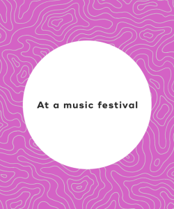 At a music festival