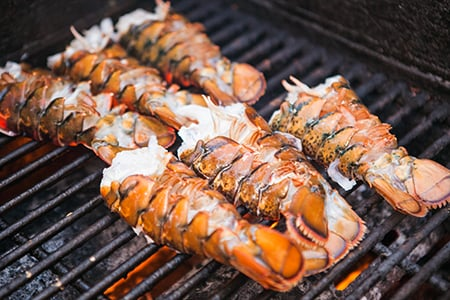 Grilled Split Lobster