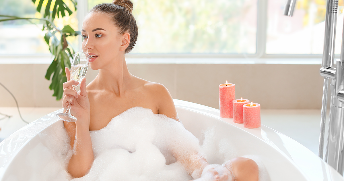 How to Pamper Yourself on Valentines Day bubble bath