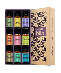 Essential oil kit and aromatherapy diffuser