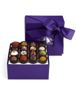 Exotic gourmet chocolate truffle set