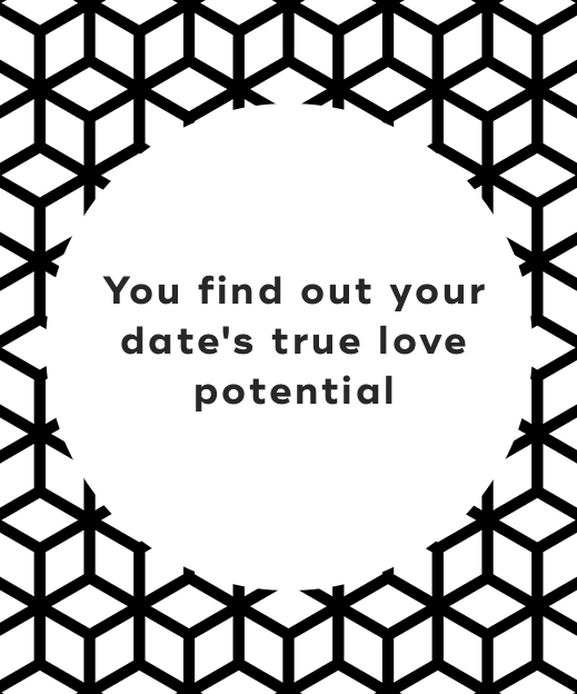 You find out your date's true love potential