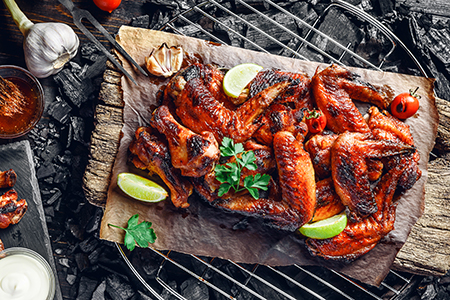 grilled thai chicken wings