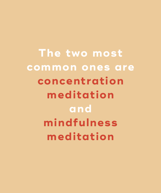 concentration and mindful meditation