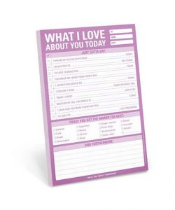 Romantic notepad