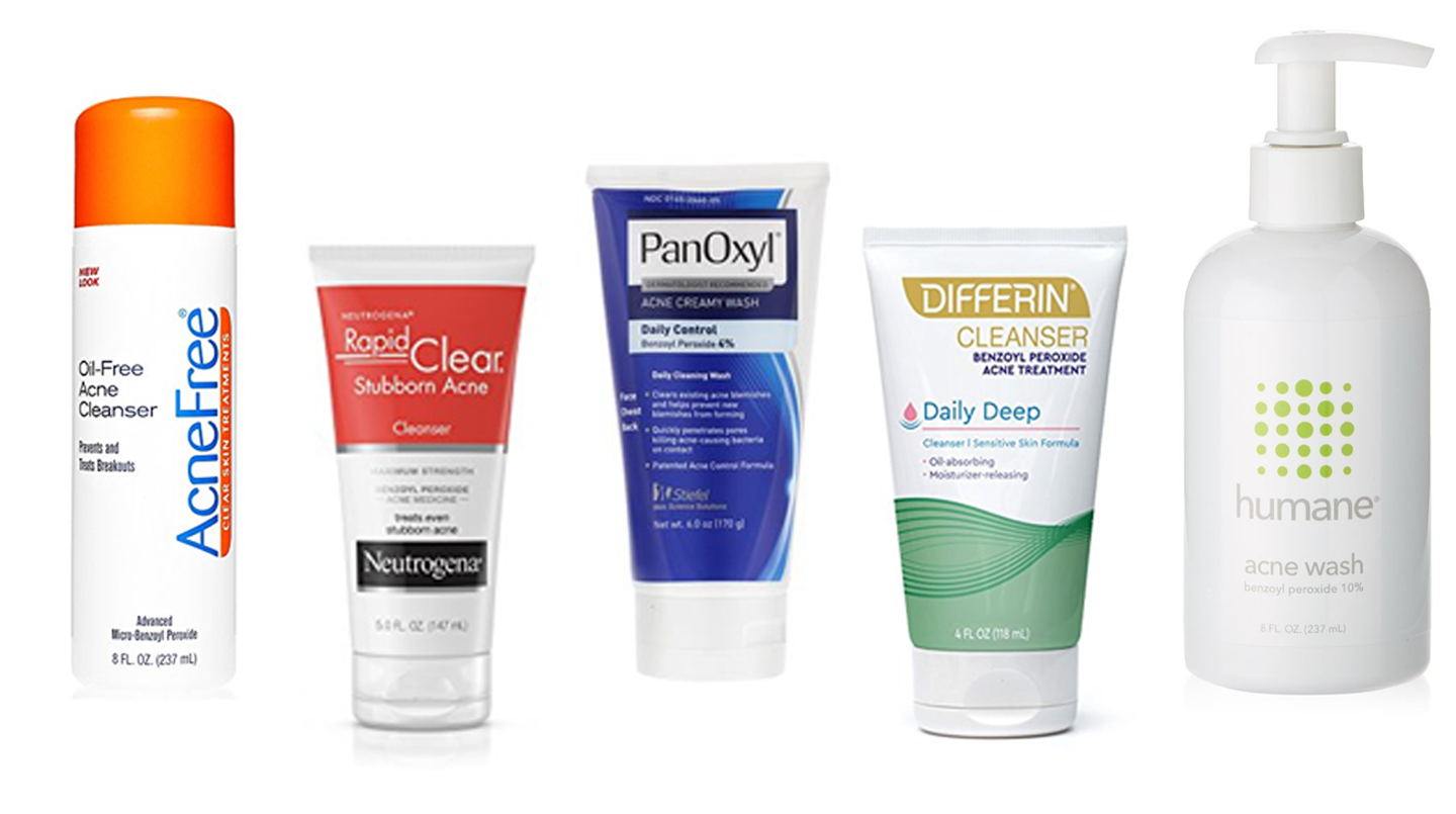 benzoyl peroxide cleansers